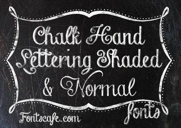 chalk hand lettering download font
