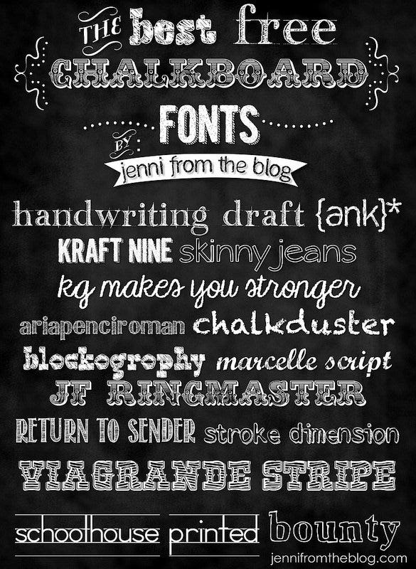 the best free chalkboard art fonts download