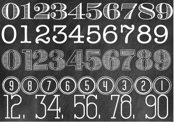 chalkboard ecuyer dax number font download