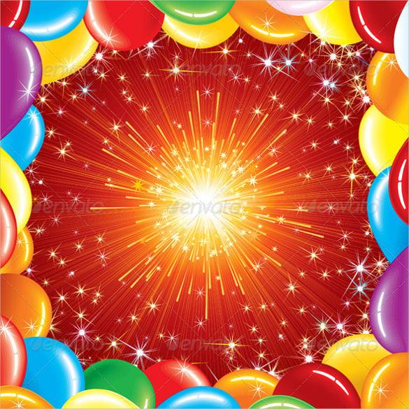blank birthday celebration template