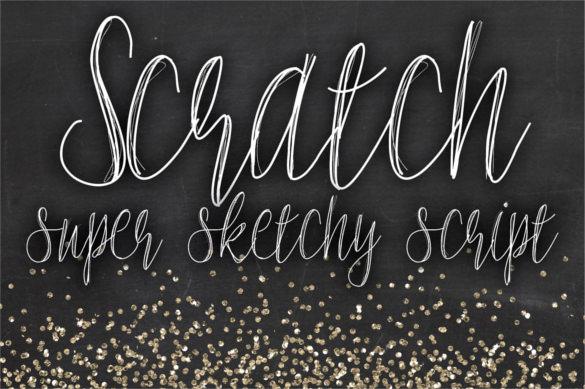 scratch super sketchy script chalkboard font template