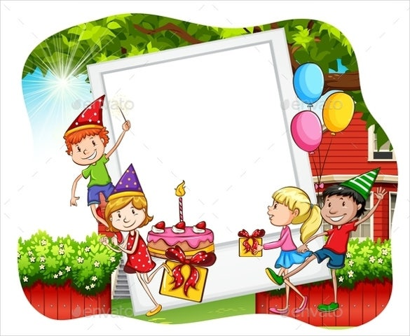 black children birthday party template