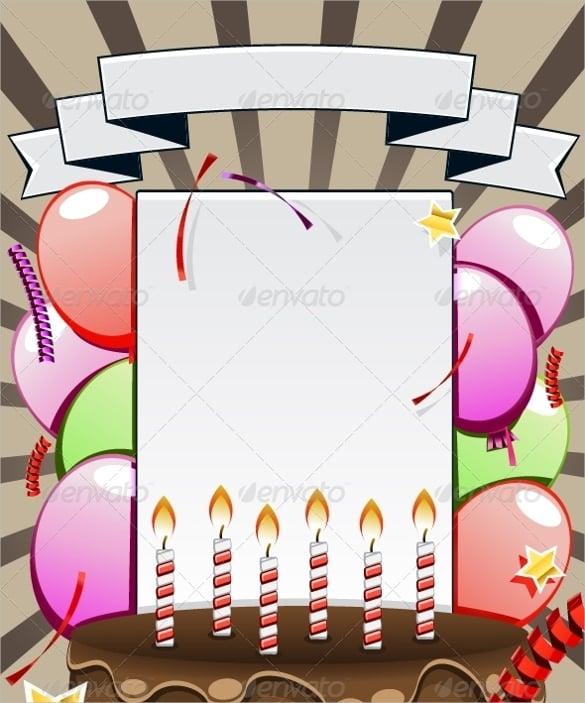 elegant black birthday template