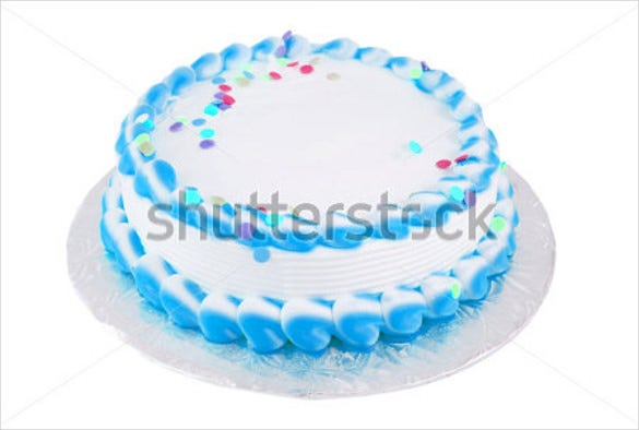 blank birthday cake template