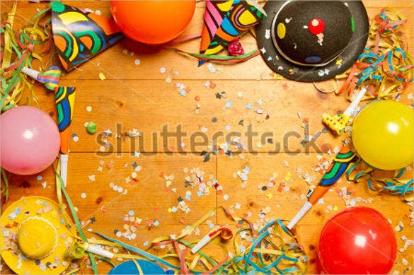 blank happy party background on wood template