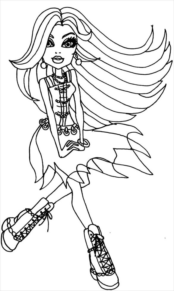 dancing monster coloring page