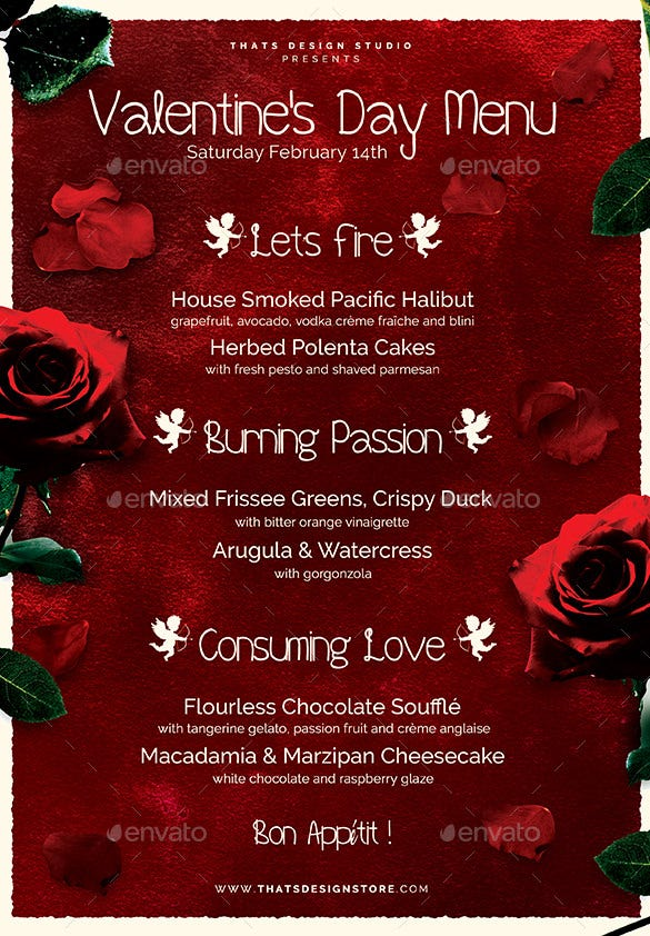 Great Valentines Party Flyer Templates