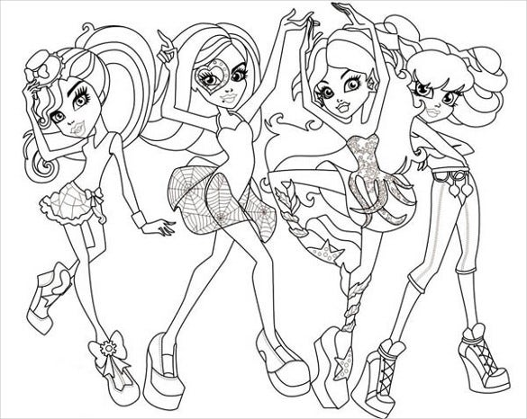monster group coloring page