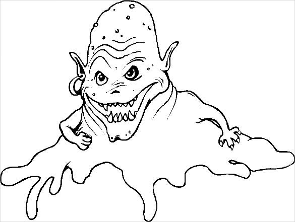 fear monster coloring page