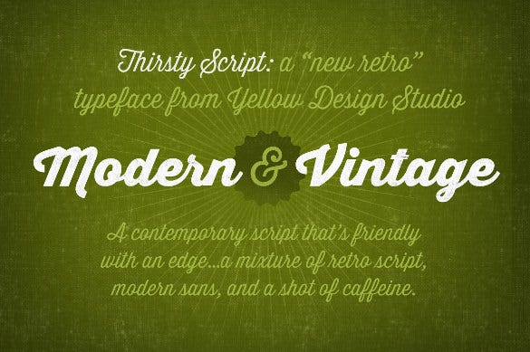 thirsty script fancy font family