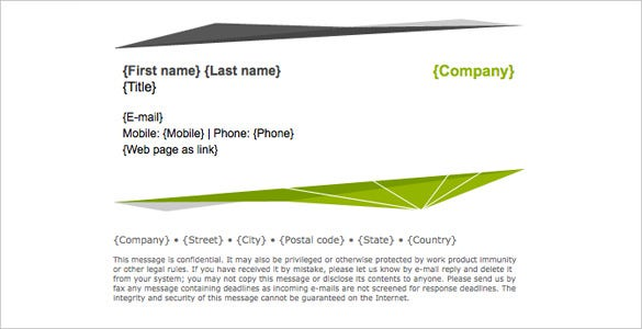 abstract green gmail signature template download