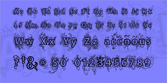 vtks deja fancy font download