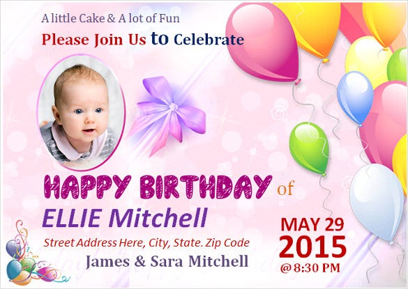 children birthday poster template