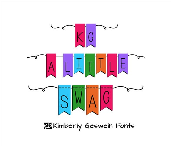kg a little swag fancy font template download