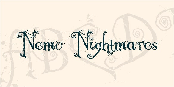 fancy nemo nightmares font template download0a