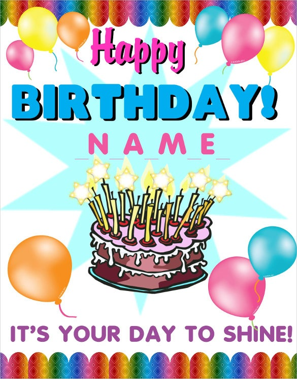 elegant birthday poster template
