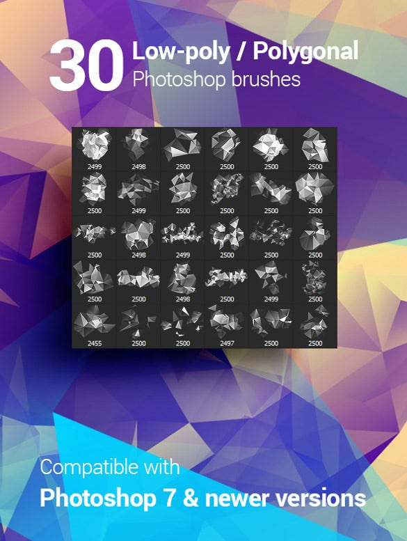 30 high resolution geometric brushes