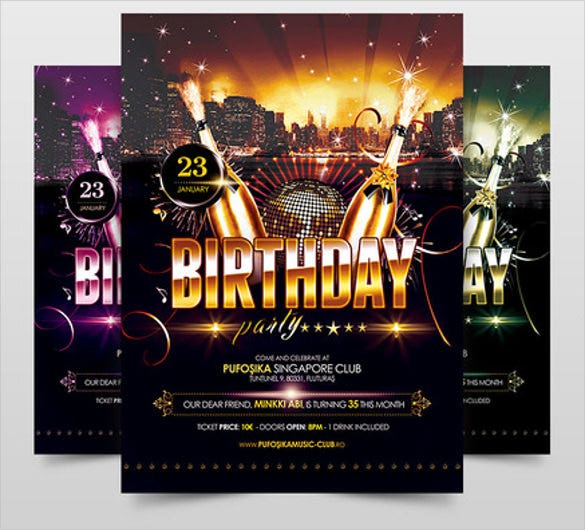 18+ Birthday Poster Templates -PSD, EPS,In Design | Free & Premium ...