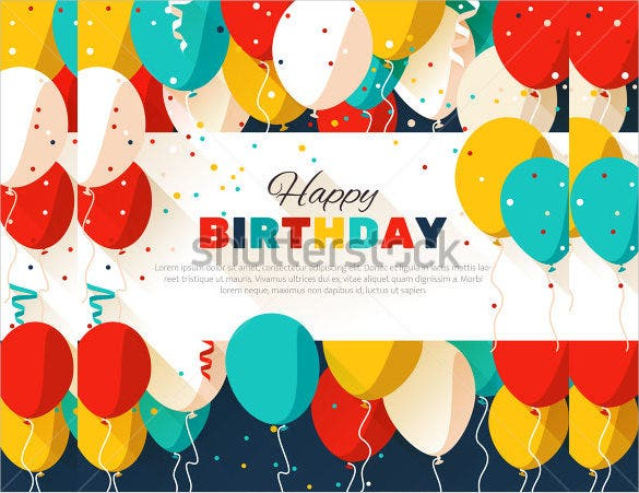 colorful birthday poster template1