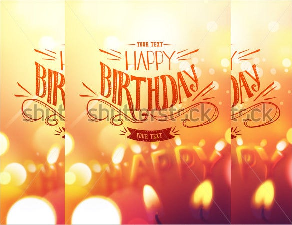 birthday candle light poster template1