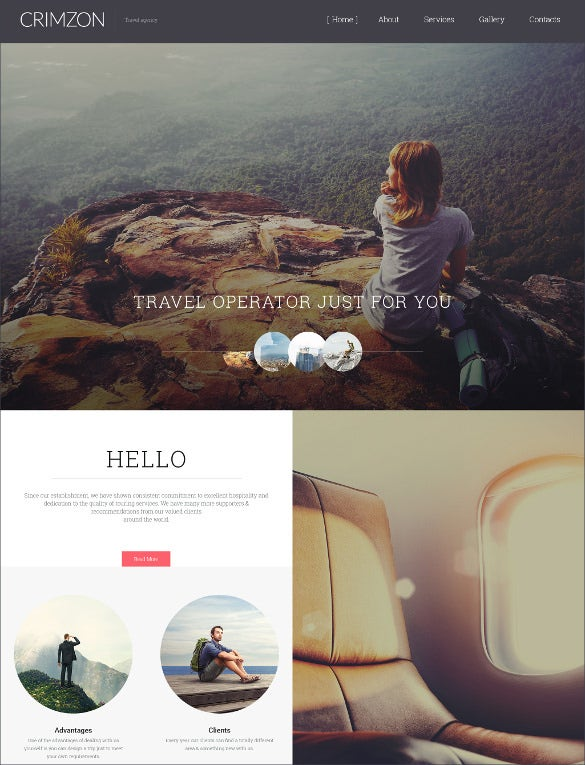 crimzon travel website template