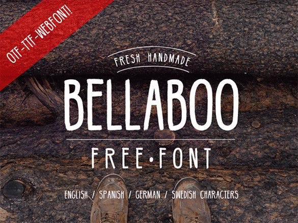 hipster font bellaboo template download