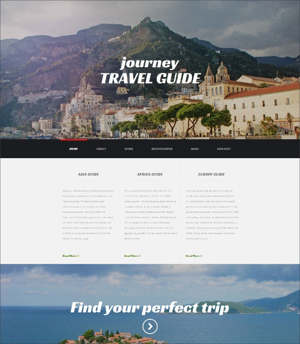 travel agency responsive moto cms 3 website template