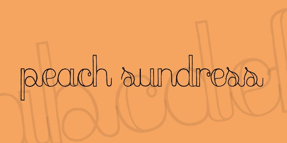 cute peach sundress font template download