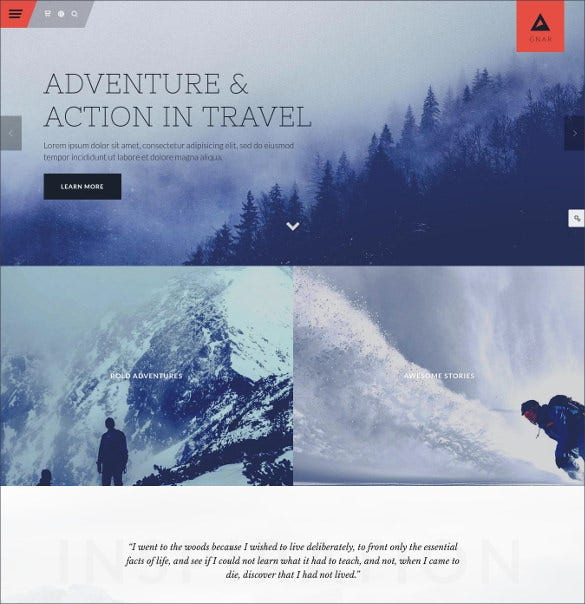 adventure travel wordpress website theme