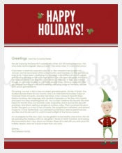 Best Family Holiday Letter Template