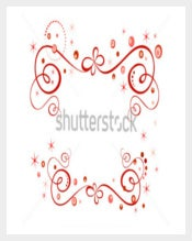 Beautiful Red Holiday Border Template