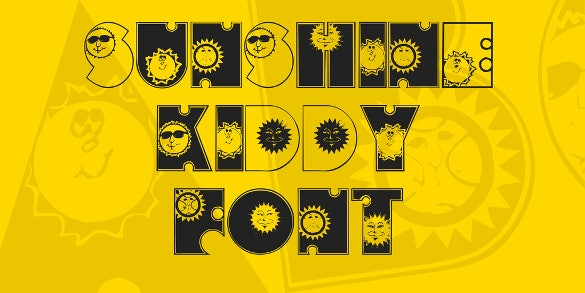 cute sunshine kiddy font template download