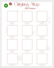 The Unique Line Sheet Holiday Template