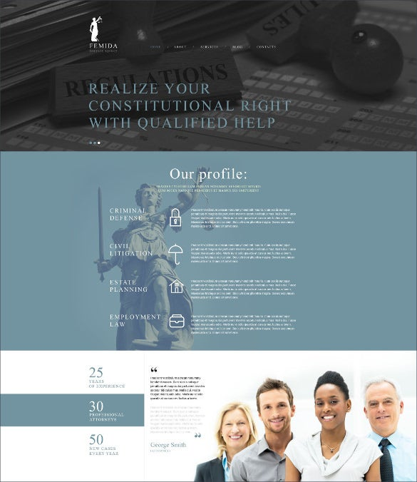 femida law firm joomla website template