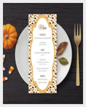 Handmade Holiday Menu Template