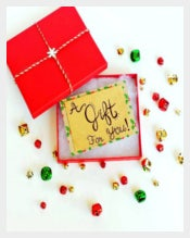 Beautiful Holiday Gift Template Download