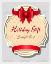Holiday Gift Card Template