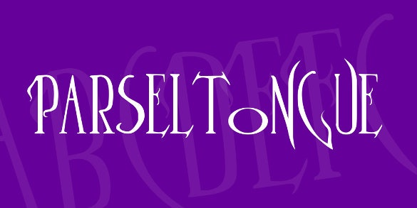 harry potter parseltongue font download