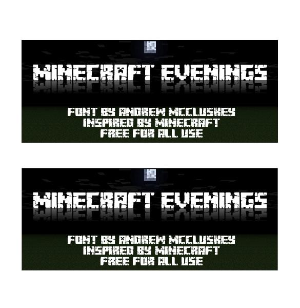 minecraft evenings font template