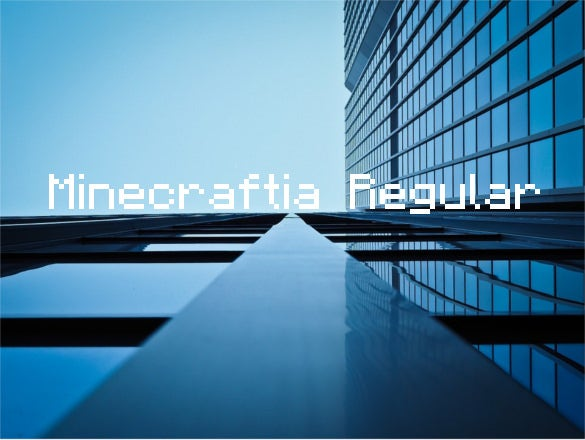 minecraftia regular font template