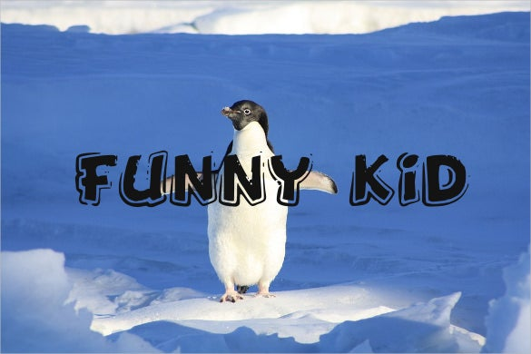 funny kid font template