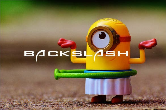 funny backslach font template download