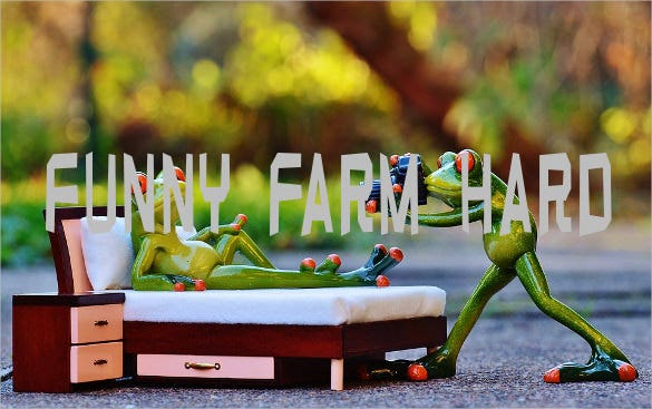 funny farm hard font template download