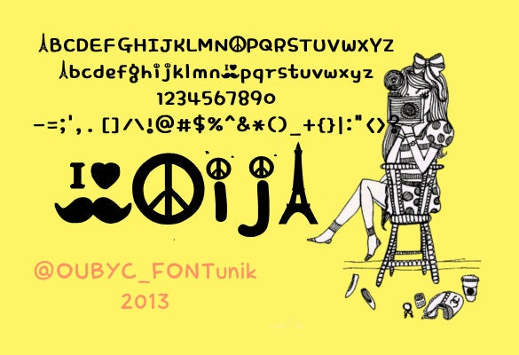 peace funny mustache font download