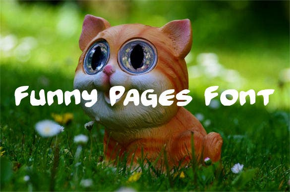 funny pages font template download