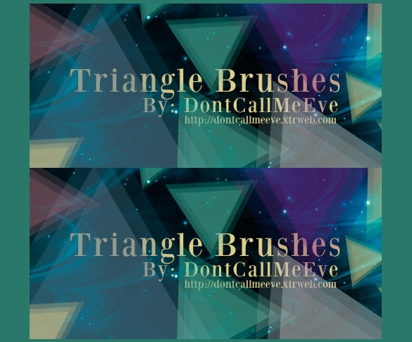 triangle brushes for good result