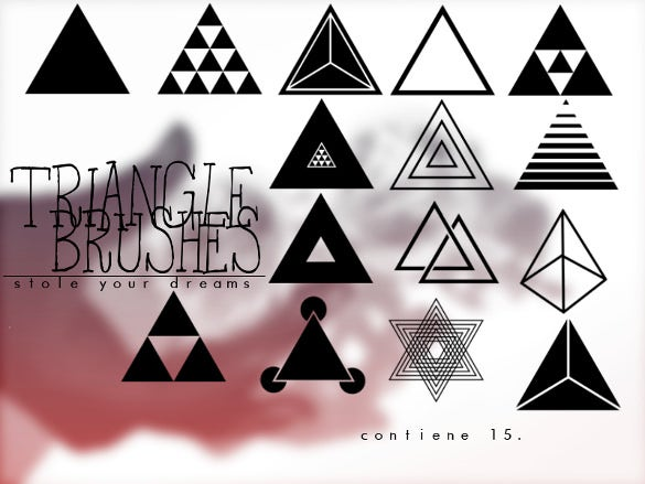 triangle brushes for photoshop