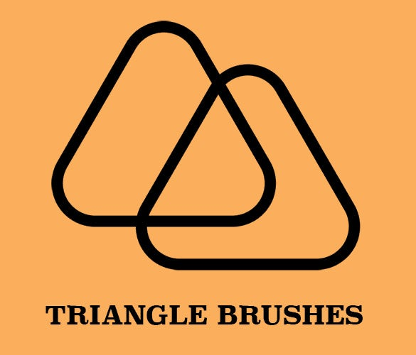 triangle brush set for good image quality