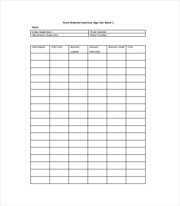 Inventory Sheet Template  Free Excel Pdf Documents Download