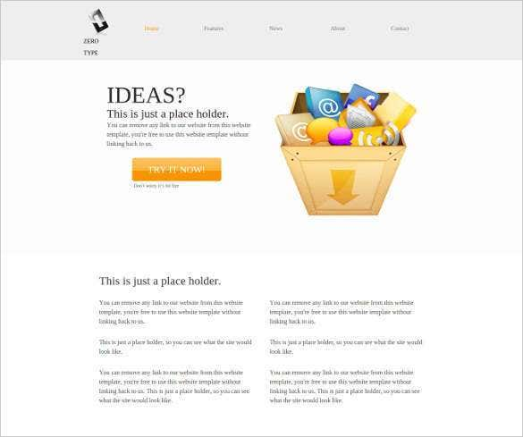 free zero type php website template11
